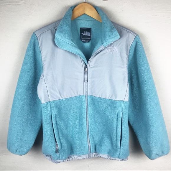 deb93c0f5 THE NORTH FACE light blue gray denali jacket small